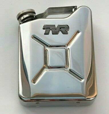 TVR Car Petrol Can / Jerry Can Stainless Steel 5oz Drinking Hip Flask
