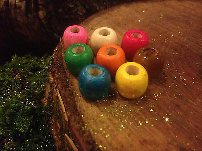 Bag of ten wooden dreadlock beads 5-6 mm hole (buy 2 bags & 3rd bag for free)