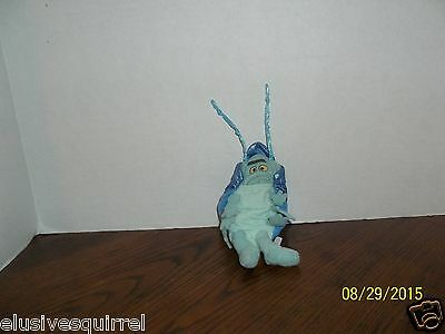 1998 Mattel A Bug's Life Tuck And Roll Blue Bug Plush Frowning Face