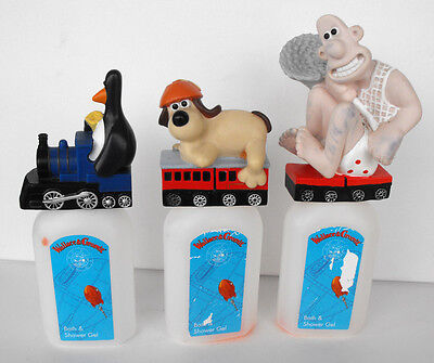 Rare Wallace and Gromit Lot of 3 Train Soakie soaky 1989 Euromark United Kingdom
