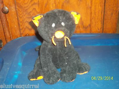 Ty Pluffies Pluffy Trickery The Black Halloween Kitty Cat Kitten Plush