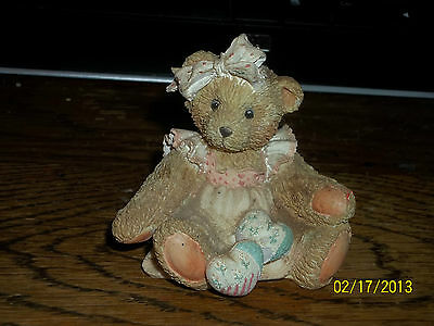 Enesco Cherished Teddies Amy Hearts Quilted With Love Bear Figurine