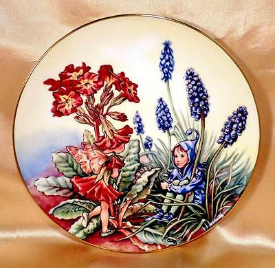 Vintage BORDER FINE ARTS China Wall Plate POLYANTHUS FLOWER FAIRIES - SALE