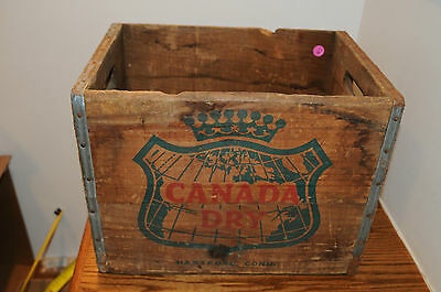 Vintage Canada Dry Ginger Ale Soda Bottles Wood Crate Soda Advertising 16 X 11.5