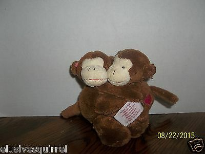 Russ Berrie Hugging Brown Monkey Chimps Apes Plush