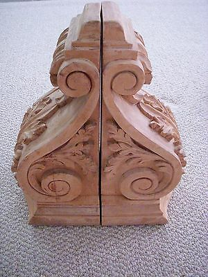 large wooden corbels distressed