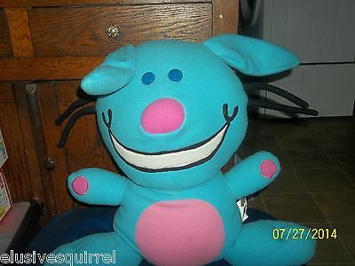 2004 Jim Benton Huge Blue Happy Bunny Plush Pillow