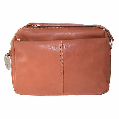 New Paul & Taylor Women's Amber Leather Organizer and Adjustable Length Handbag