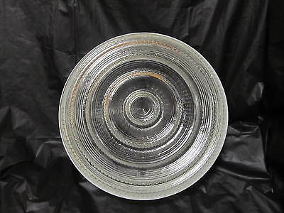 "Vintage Glass Dome Ceiling Light Fixture large,frosted & clear 10"" LQQK!"