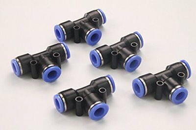 """Generic Push in Quick Touch to Connect Fitting 3/8"""" OD Tube Pneumatic Tee Union"""