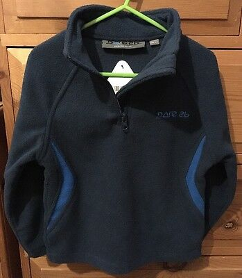 New Kids Dare2b Wula/ Micro Fleece 3-4yrs, Blue, Half Zip RRP £12.99