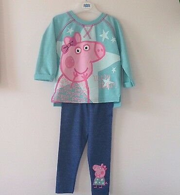 Girls Peppa Pig Winter/Christmas Sweatshirt Top Jeans Jeggings 3-4 Years