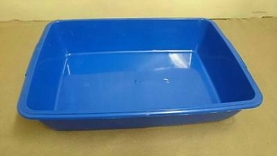 New Plastic Cat Dog Pet Litter Tray Blue, Mint Green, Red, Black, Uk Made