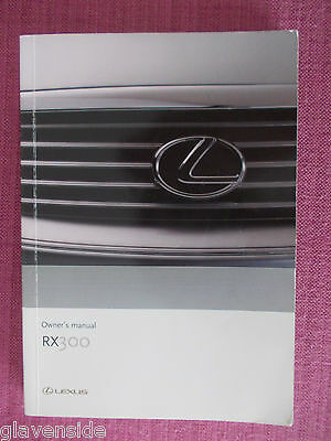 Lexus Rx300 Owners Manual - Owners Guide - Owners Handbook 2000 - 2003. (Le 14)