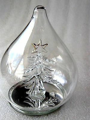 HAND BLOWN Glass FREE STANDING XMAS TREE ORNAMENT