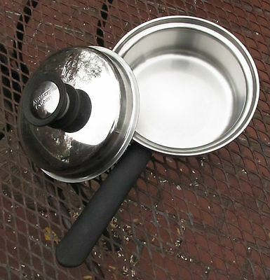 VTG 1970s–80s Amway Queen 1 Qt Sauce Pan 18/8 Stainless Steel Moisture Cooking