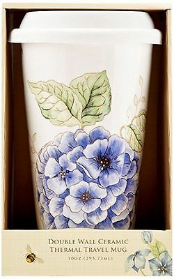 Lenox Butterfly Meadow Blue Thermal Mug, White New