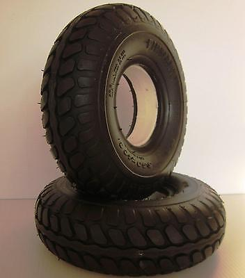 2 Rear Mobility Scooter Tyres Puncture Proof Tyres 330 x 100 (4.00 x 5) Tyres
