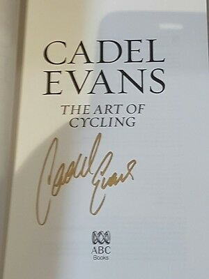 NEW - The Art of Cycling - Autobiography Book SIGNED by Cadel Evans - LAST ONE!