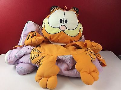 Vintage Garfield Snug-ums Plush Sleeping Bag and Pillow All-in-One Rare