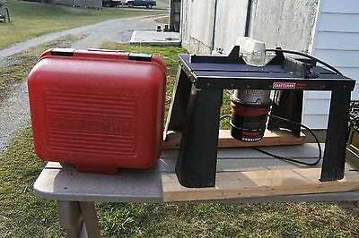Craftsman 1 1/2 Hp Router With Bench Top Table