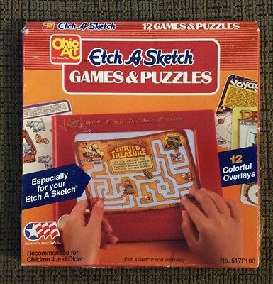 Etch A Sketch Overlays 12 Games And Puzzles