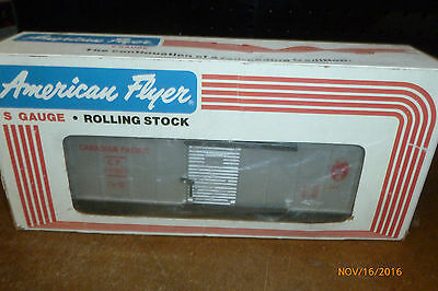 S scale American Flyer Canadian Pacific Boxcar 48302