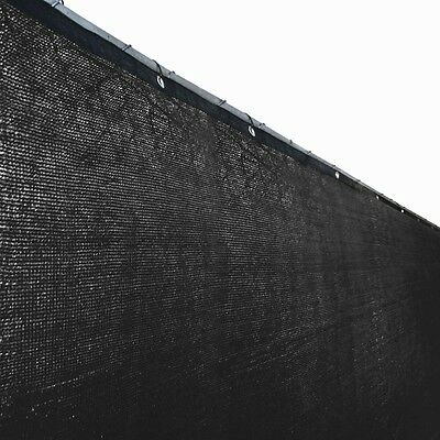 ALEKO 6'x150' Fence Privacy Screen Windscreen Mesh Fabric With Grommets Black