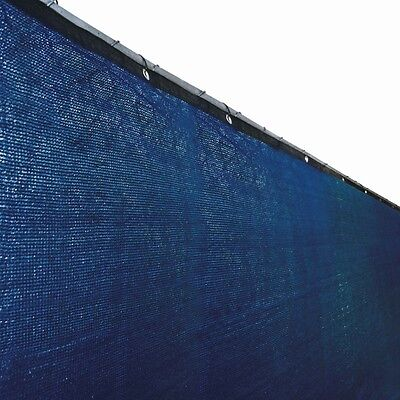 ALEKO 6'x150' Fence Privacy Screen Windscreen Mesh Fabric With Grommets Blue