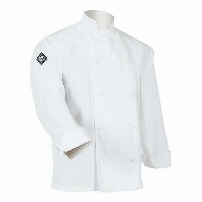 """** Lowest Price ** Aussie Chef Traditional Jacket Long Sleeve White Size """"XS"""""""