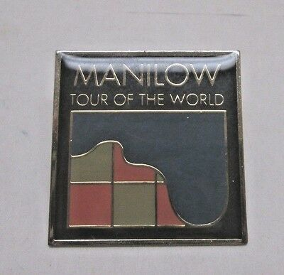Barry Manilow -Tour of the World Pin - 1997 VGUC