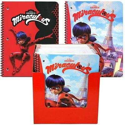 Miraculous Ladybug 50 Sheet Single Subject Theme Book in PDQ 2 Asstd-2 Pack