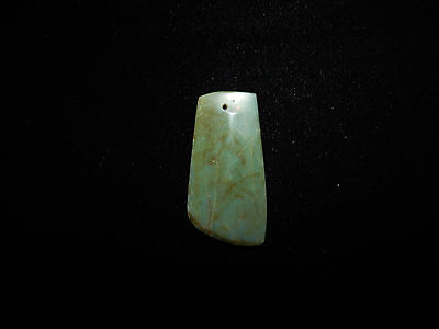 Pre-Columbian Blue Jade Ceremonial Pendant, Translucent Jade, Gemstone Quality