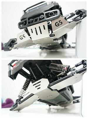 MTA4 G5 Stainless Steel Chassis Armor Front & Rear Skid Plate Lower Arm Protect