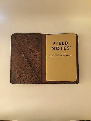 Distressed Buffalo Field Notes Notebook Leather Journal Cover USA Handmade
