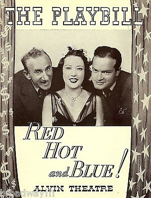 """Ethel Merman """"RED HOT and BLUE"""" Cole Porter / Bob Hope / Jimmy Durante 1937"""