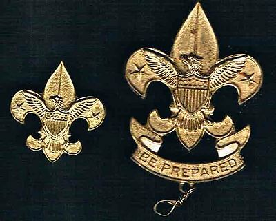 "Two ""Be Prepared"" Boy Scout Eagle Pins"