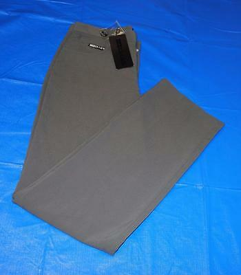 New Mens Size 32/34 Hollas polyester Spandex Stretch Golf Pants Gun Metal Grey