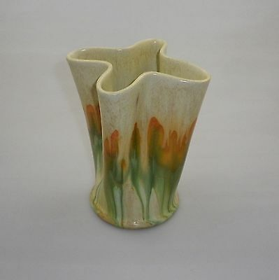 Early Remued Conical Shaped Vase Widening Up To A Four Way Mouth