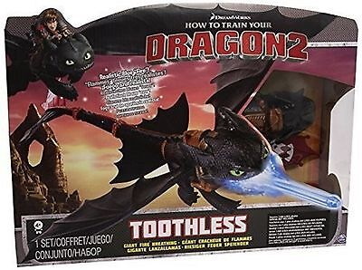 How To Train Your Dragon 2 Giant Fire Breathing Toothless Ages 4+ New Toy Gift