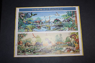 USPS Official FDC Souvenir Page, #3136 The World of Dinosaurs, 1997