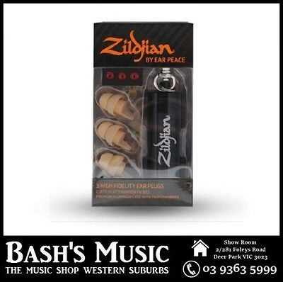Zildjian ZPLUGSL HD Earplugs Hearing Protection 3 High Fidelity Ear Plug Light