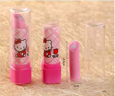 2X Hello Kitty Pink Lipstick Design Eraser Rubber