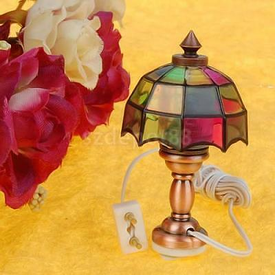 Vintage Victorian Style Table Lamp for 1:12 Dolls House Miniature Accessory