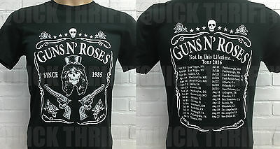 Guns N' Roses Not In This Lifetime… 2-Sided Concert T-Shirt Jack Daniels Edition