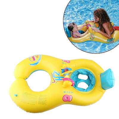 New Safe Swimming Ring for Baby Bath Neck Float Mother-child Play Swim ring HA