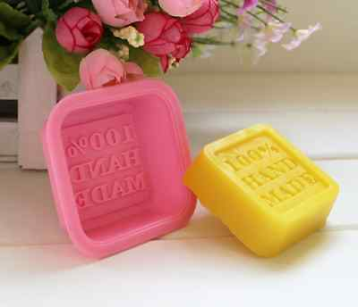 2X 100% Handmade 3D Brick Mold Silicone Tray Chocolate Ice Cube Jelly Soap Mould