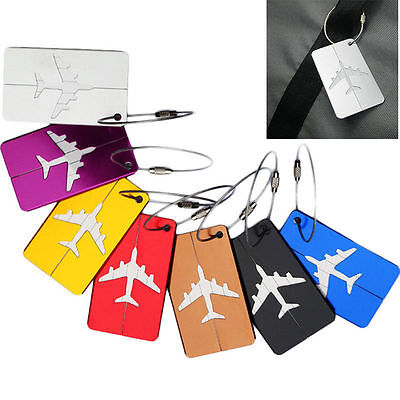 New Metal Luggage Tags Suitcase Label Name Address ID Bag Baggage Tag Travel
