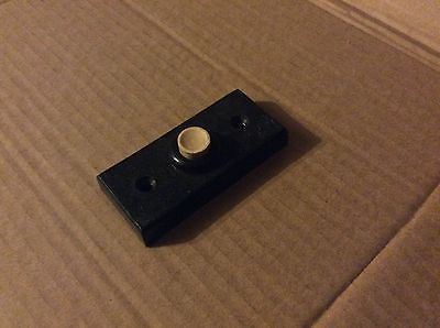 Antique Vintage Art Deco black  bakelite doorbell door bell buzzer press switch