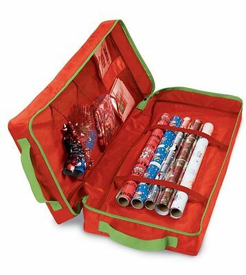 Bnwt Christmas Gift Wrap Organiser Storage Bag With Compartments  79 X 33 X 15